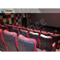 Red / Black 4D Movie Theater , 4D Motion Seat Is Main Technology For Cinema Hall Manufactures