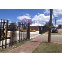 China Welded steel fence panels on sale