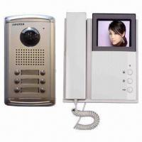 4-wired Apartment Video Intercom System with CCD Camera and Metal Casing Manufactures