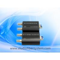 sdi fiber optic transmitter and receiver for 1ch broadcast sdi  transmission over 1single mode fiber wthiout delay Manufactures