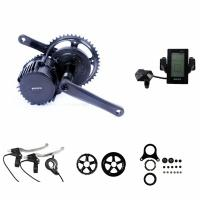 Portable Electric Bike Crank Motor Kit , Electric Mid Drive Bike Kit With LCD Display Manufactures