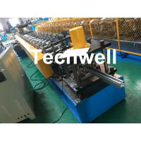 PPGI , Galvanized Steel Guide Rail Roll Forming Machine With Disk Saw Cutting