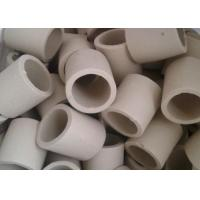 Simple Shape Ceramic Tower Packing / Ceramic Raschig Rings High Mechanical Stability Manufactures