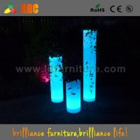 China 100-240V Led Light Plant Flower Pots For Nightclub / Disco , 30 × 30 × 70 Cm Size on sale