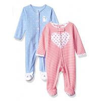 China Newborn  pinstripe printed Long Sleeve Baby Rompers  Set Foot Secti on sale