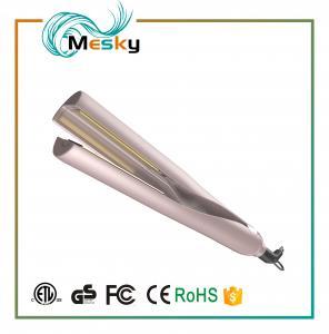 2 in 1 Gold Hair Straightener gold titanium flat iron hair curler Manufactures