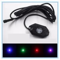 4 Pods RGB LED Rock Security Lights with Bluetooth Controller for Music Mode , Flashing Manufactures