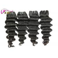 Raw Thick End Brazilian Human Hair  Extensions , Loose Deep Wave One Donor Human Hair Weave Bundles Manufactures