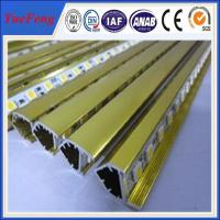 aluminum profile for led display in golden finshing being good quality Manufactures