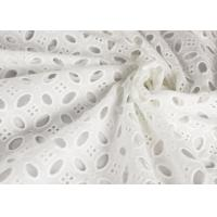 Heavy Vintage Eyelet 100% Cotton Lace Fabric Wholesale By The Yard