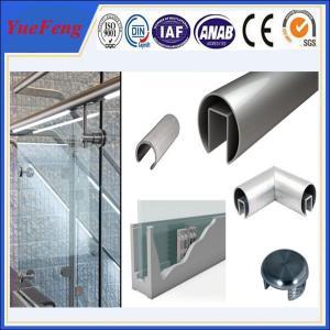 6000 series octagonal aluminum tubes / aluminum profile half round tube for handrail Manufactures