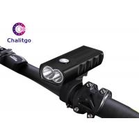 USB Charging Mountain Bike Flashlight , 2T6 18650 Rechargeable Front Bike Light Manufactures