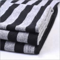 China Hot Sale Rusha Textile Soft Handle Knitted 95% Rayon 5% Spandex Yarn Dyed Jersey Fabric Striped for Garment on sale