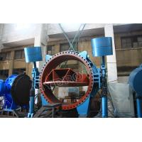 DN 5000mm large diameter Hydraulic Heavy Hammer Flanged Butterfly Valve For Hydropower Station