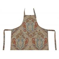 Bib Type Flower Printed Cotton Canvas Material Women Kitchen Apron With Front Pocket Manufactures