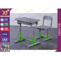 China Green Blow - Molded Plastic Education Classroom Table And Chair Customized Color on sale