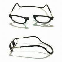 China Magnet Reading Glasses, Various Colors are Available, Made of Plastic on sale