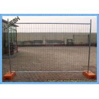 Movable Temporary Welded Mesh Fence Panels Steel Material Anti - Weather Manufactures