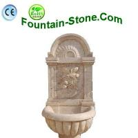 Flower Face Travertine Wall Fountain With Speical Design Manufactures