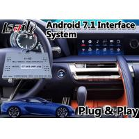 China GPS Navigation Box Android Car Video Interface For Lexus LC500 LC 500h 2017-2020 on sale