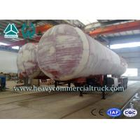 China 45M3 3 Axles Heavy Duty Lpg Propane Gas Tank Trailer With Air Suspension on sale