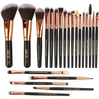 High quality Wood Handle Makeup Brushes Fan Brush best make up brush Manufactures