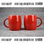 Beer barrel red black ceramic beer mug custom advertising LOGO for your design Manufactures