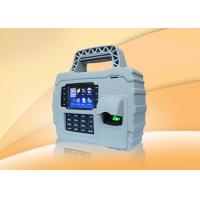Waterproof  3.5 TFT fingerprint staff time attendance system with GPRS  WIFI , Built In Battery Manufactures