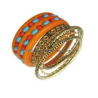 Jewelry Fashion Bangle-Wooden and Metal Set Bangle (BL25729) Manufactures
