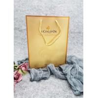 China Durable Metallic Foil Paper Carrier Bags With Twisted Handles Hot Stamping on sale