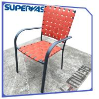 Furniture Outdoor Patio Chairs Cross Weave Garden Patio Strap Dining Banquet Chair Manufactures