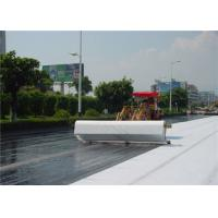 White Non Woven Geotextile fabric underlayment 0.68 - 0.92MM Thickness Manufactures