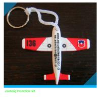 hottest customized plane design soft  PVC keychain for promotion Manufactures