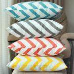 100% cotton cushion,geographic vector design cushion,chevron zigzag print cushion Manufactures