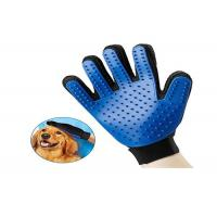 Black / Blue Pet Grooming Glove Polyester Liner Coated Smooth Nitrile Material Manufactures