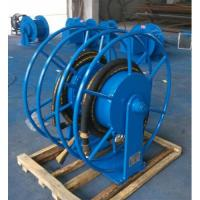 Mortor Driven Metal Hose Reel , Heavy Duty Hose Reel Safe Transportation Manufactures