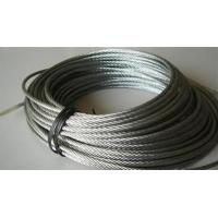 Rusting Resist Galvanized Steel Wire Rope For Lifting , Towing 7 X 19 Manufactures