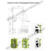 Buy cheap china bathroom concealed shower mixer,bathroom embedded concealed brass shower from wholesalers