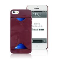 2014 Chocolate Brown Credit Card Holder Mobile Phone Case  for iPhone 5S Manufactures