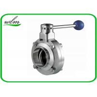 Butt Welded Sanitary Butterfly Valve For High Temperature Pipe System Manufactures
