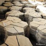 Natural stone High Hardness Natural Slate Meshed Flagstone Paver Tile For Landscape / Garden Manufactures