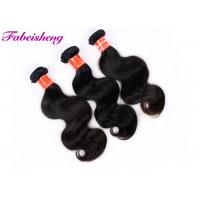 Natural Color Body Wave Weave Hair Extensions Double Layers Sewn Weft Manufactures