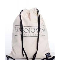 100% Cotton Drawstring Bag, Reusable Cinch Pack, Ideal for Sports, Gym, Daily use With Zippered Back Pocket Manufactures