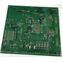 4 layers Rogers + FR4 PCB with gold plating edge and vias in plating Manufactures