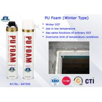 Winter Type PU Foam Insulation Spray B3 Fire Resistant for Doors and Windows Manufactures