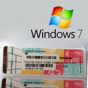 Genuine Windows 7 Professional Product Key 64 Bit Serial OEM Package Global Version Manufactures