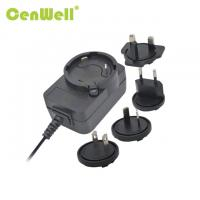 Good quality cenwell interchangeable au us uk eu 12v 1a ac adapter with CE FCC certification Manufactures