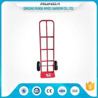 China Steel Body Two Wheel Hand Truck / Dolly Cart 'P' Shape Handle Red Color TUV on sale