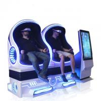 Quality Attractive 9D VR Cinema Egg Shape VR Chair Simulation Rides Single / Double / Triple Seats for sale
