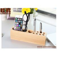 China 2018 High quality handmade wood cell phone stand phone holder desk organizer on sale